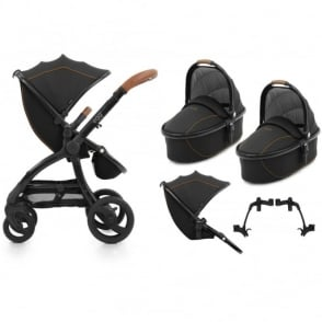 Egg Tandem Stroller with 2 Carrycots Espresso