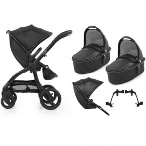 Egg Tandem Stroller with 2 Carrycots Jurassic Black Special Edition