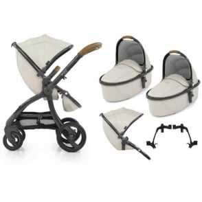 Egg Tandem Stroller with 2 Carrycots Jurassic Cream Special Edition
