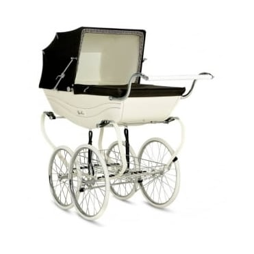 Silver Cross Heritage Balmoral Pram Cream/Brown