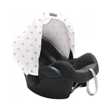 Dooky Hoody UV Protective Car Seat Hood Silver Star