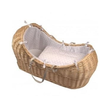 Clair De Lune Dimple Noah Pod Natural Wicker Basket