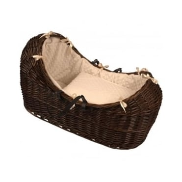 Clair De Lune Dimple Noah Pod Dark Wicker Basket