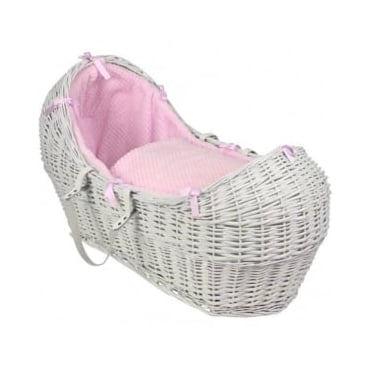 Clair De Lune Honeycomb Noah Pod White Wicker Basket