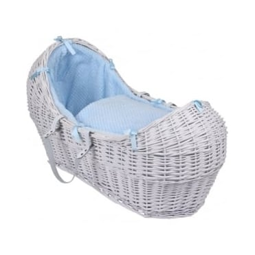 Clair De Lune Honeycomb Noah Pod Grey Wicker Basket