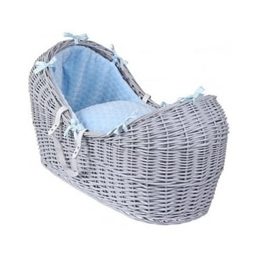 Clair De Lune Marshmallow Noah Pod Grey Wicker Basket