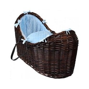 Clair De Lune Marshmallow Noah Pod Dark Wicker Basket
