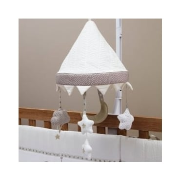 Silver Cross To The Moon And Back Musical Cot Mobile