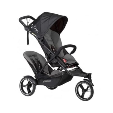 Phil & Ted's Dot Pushchair With Double Kit Flint
