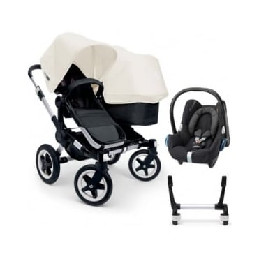 Bugaboo Donkey Duo Pushchair + Cabriofix Car Seat + Adapters