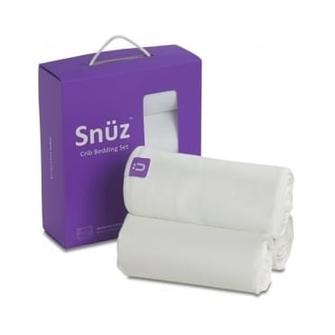 Snuz Crib Bedding Set - White