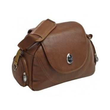 Egg Leather Tan Changing Bag
