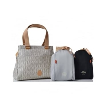 Pacapod Richmond Changing Bag Dove Herringbone