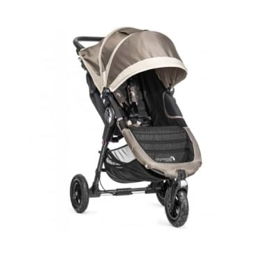 Baby Jogger City Mini GT Single Stroller Stone with Raincover