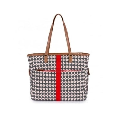 Pink Lining Henrietta Tote Bag Diamonds And Hearts