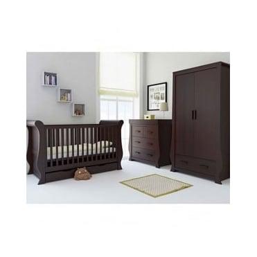 BabyStyle Hollie Furniture Nursery Set Rich Walnut