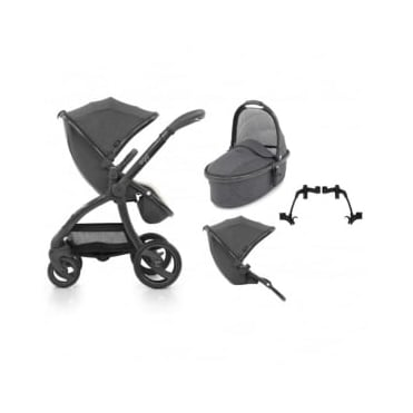 Egg Tandem Stroller with Carrycot Quantum Grey
