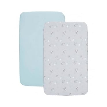 Chicco Crib Set 2 Fitted Sheets - Sky