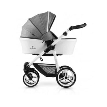 Venicci Pure Leatherette 3in1 Travel System - Denim Grey