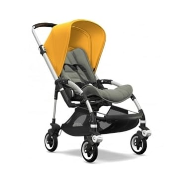 Bugaboo Bee5 Stroller - Silver Chassis - Sunrise Yellow Canopy