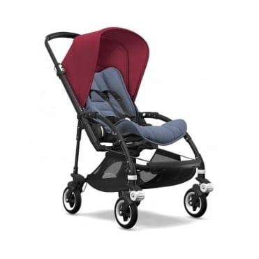 Bugaboo Bee5 Stroller - Black Chassis - Ruby Red Canopy