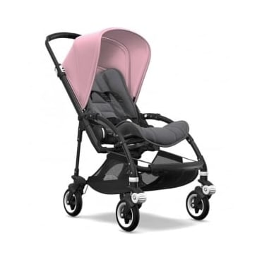 Bugaboo Bee5 Stroller - Black Chassis - Soft Pink Canopy