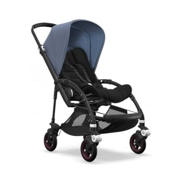 Bugaboo Bee5 Stroller - Black Chassis - Blue Melange Canopy