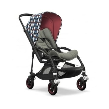 Bugaboo Bee5 Stroller - Black Chassis - Waves Canopy