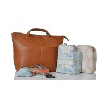 Pacapod Saunton Tan Changing Bag