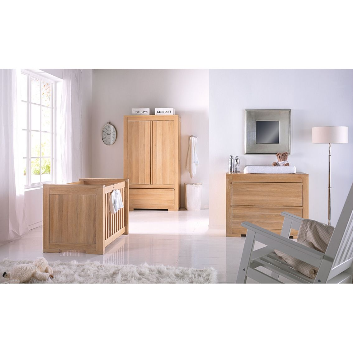 Nursery Furniture : ... Cot Beds › Kidsmill › Kidsmill Bretagne Oak Nursery Furniture Set