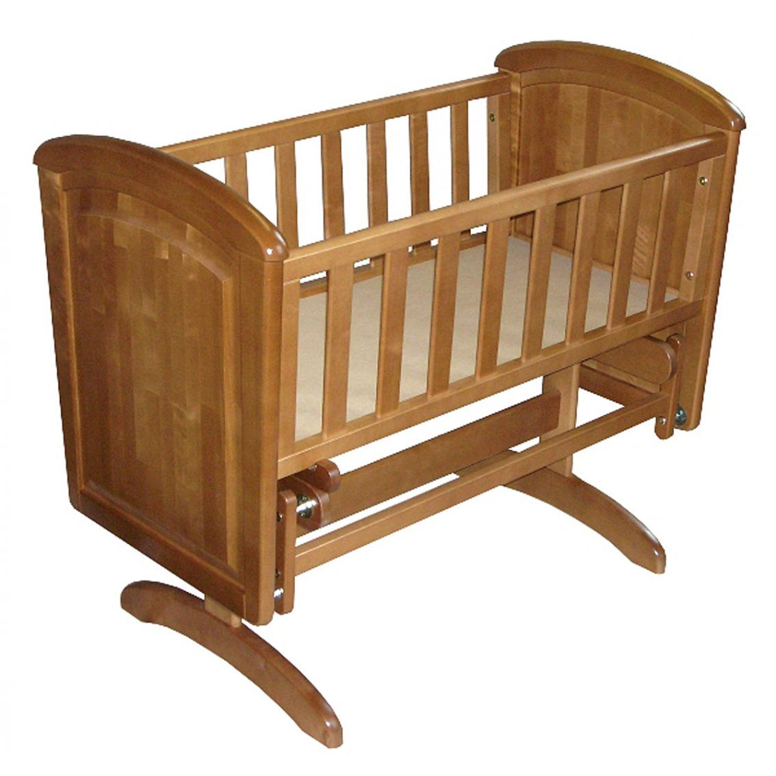 Troll Nicole Panel Glider Crib With Mattress