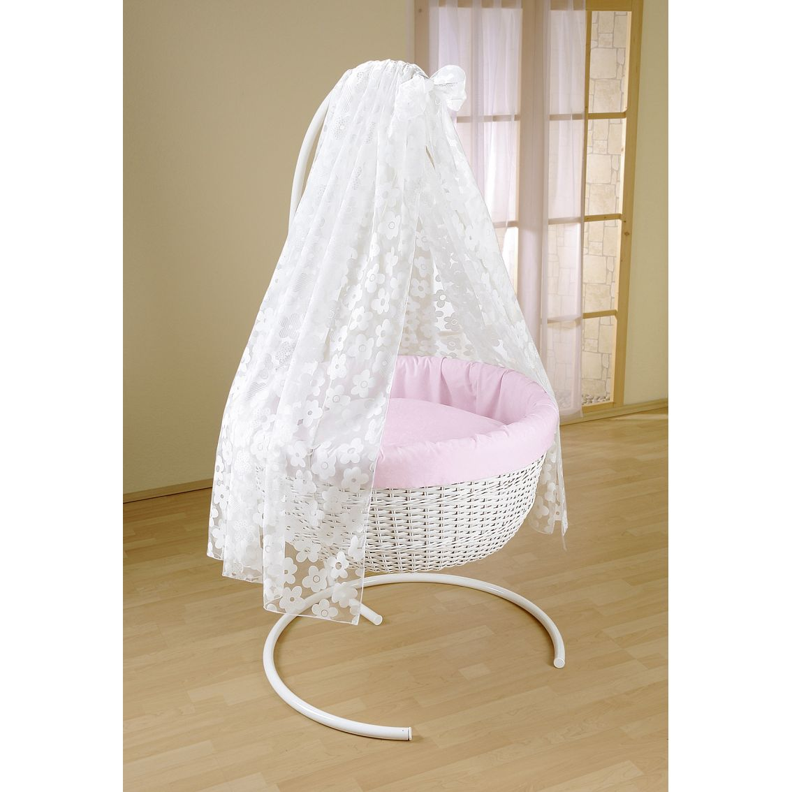 92 swinging cribs with drapes crib cradle bedding for Drape stand for crib