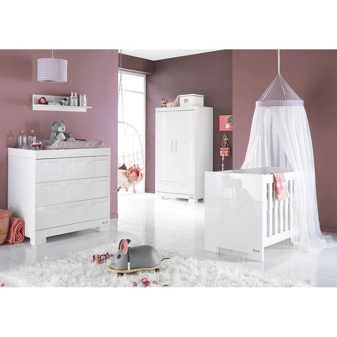 Babystyle aspen 3 piece nursery furniture set for Baby bedroom furniture