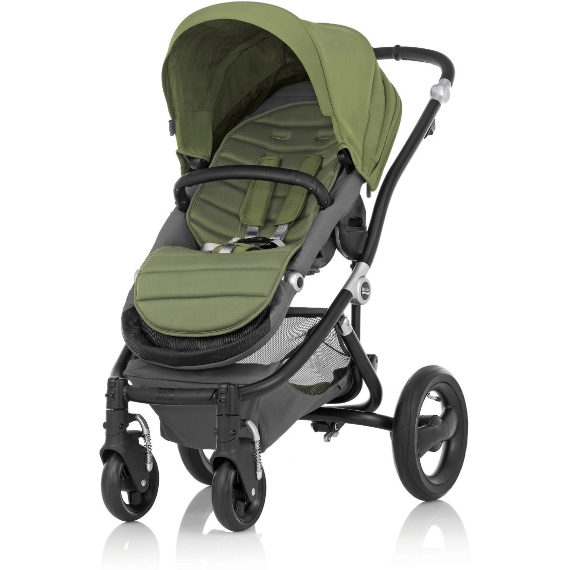 how to close britax stroller