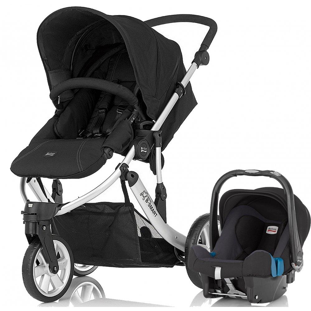 britax b smart 3 travel system pushchair pram stroller buggy. Black Bedroom Furniture Sets. Home Design Ideas