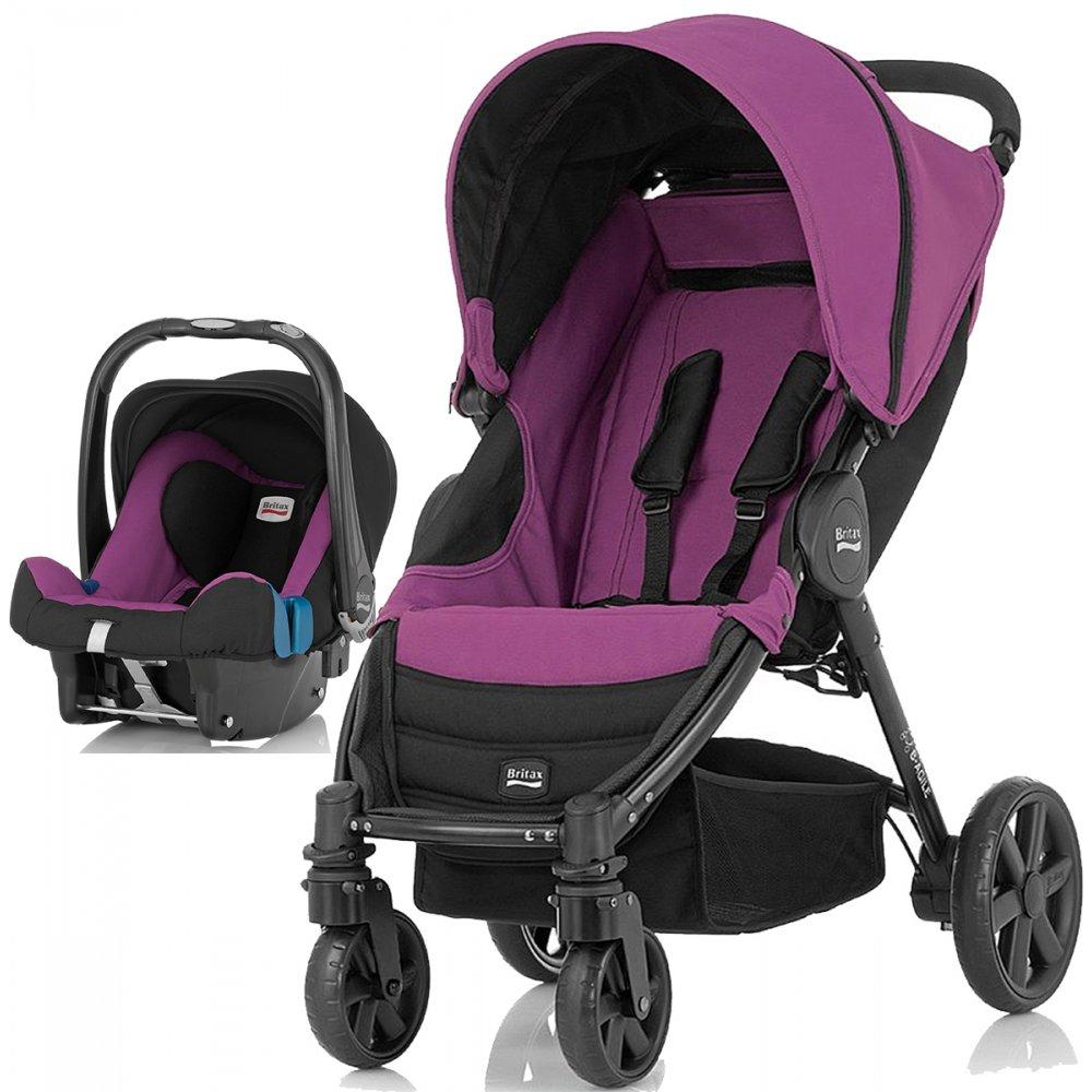 britax b agile travel system pushchair car seat stroller pram. Black Bedroom Furniture Sets. Home Design Ideas