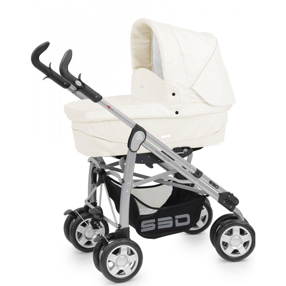 Babystyle Prestige S3d Pushchair Cream Croc Leatherette