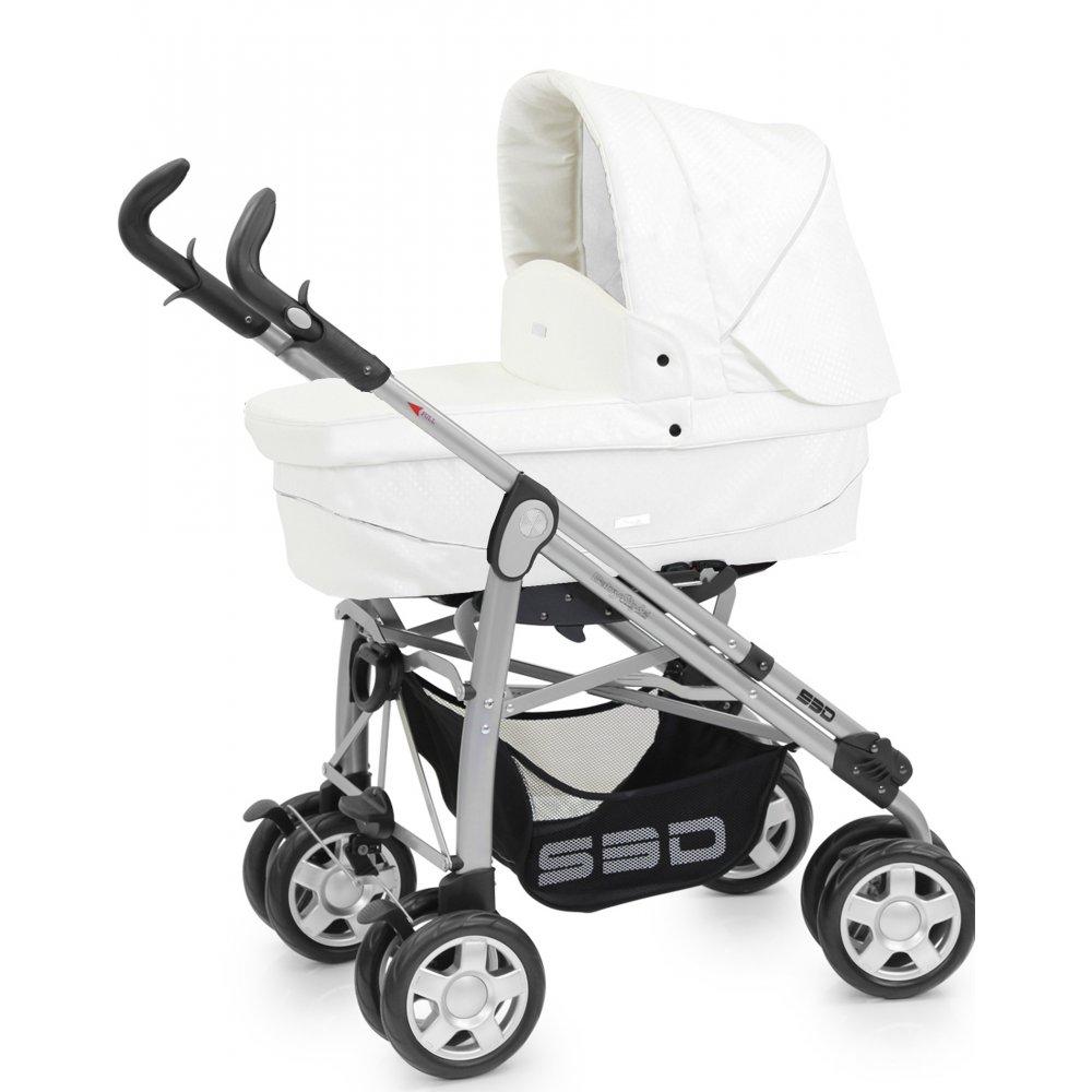 Babystyle Prestige S3d Pushchair White Croc Leatherette