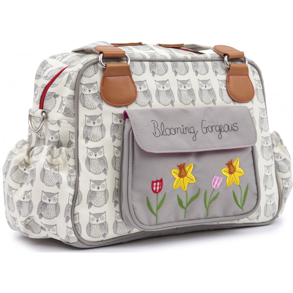 pink lining blooming gorgeous wise owl changing bag. Black Bedroom Furniture Sets. Home Design Ideas