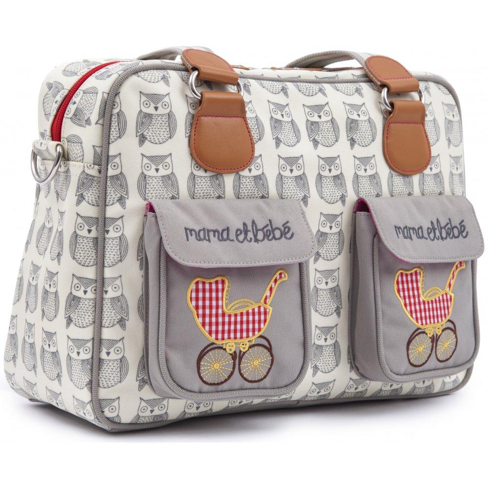 pink lining mama et bebe wise owl changing bag. Black Bedroom Furniture Sets. Home Design Ideas