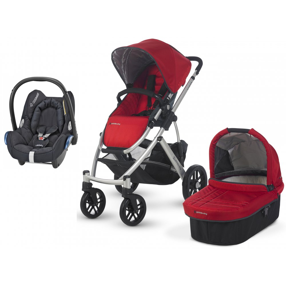 uppababy vista 3 in 1 pram with cabriofix car seat. Black Bedroom Furniture Sets. Home Design Ideas