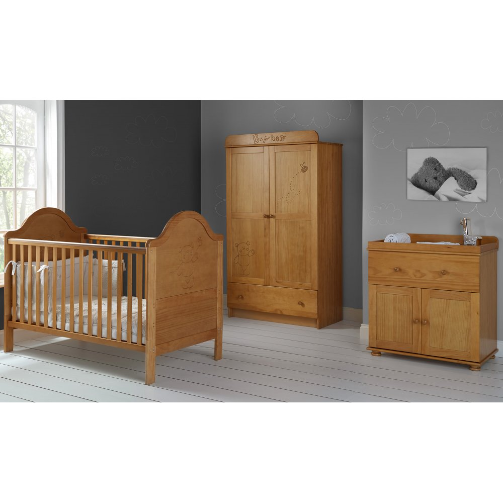 Nursery Furniture : OBaby B is for Bear Double 3 Piece Nursery Furniture Set
