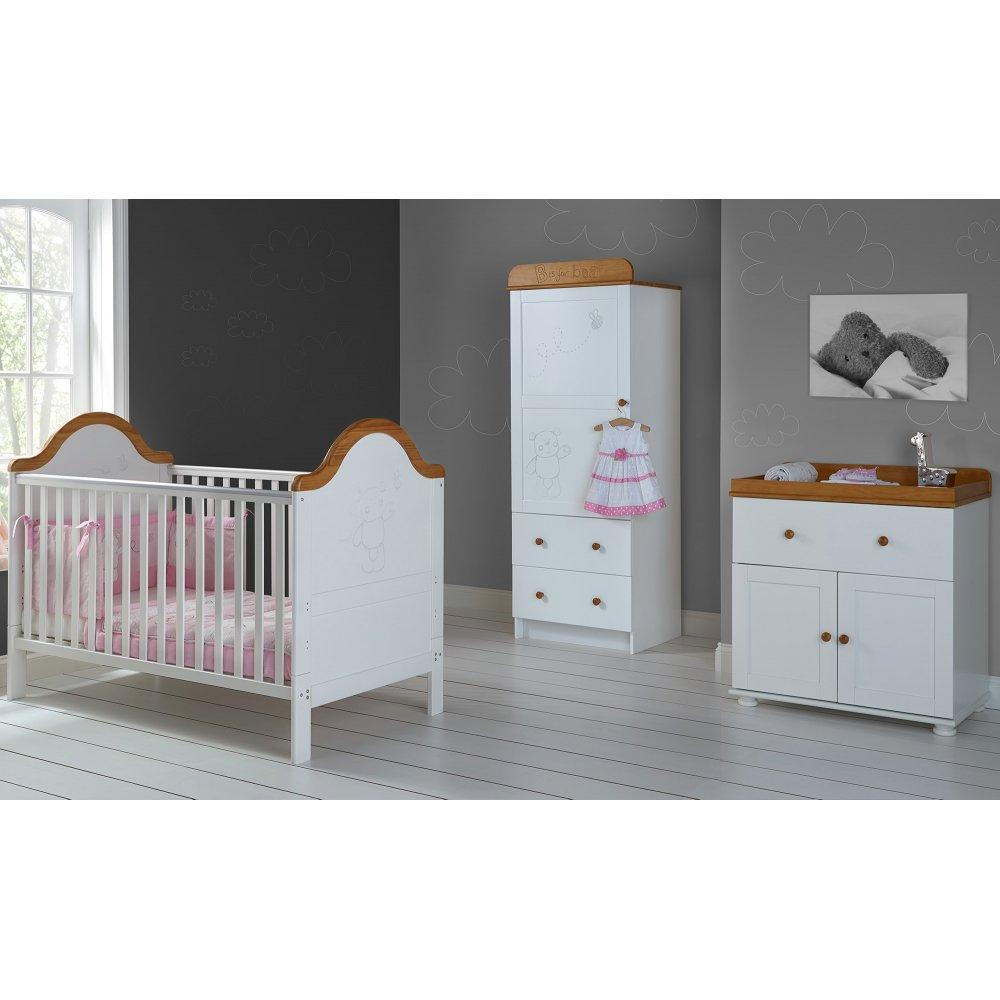 Obaby B Is For Bear Single 3 Piece Nursery Furniture Set