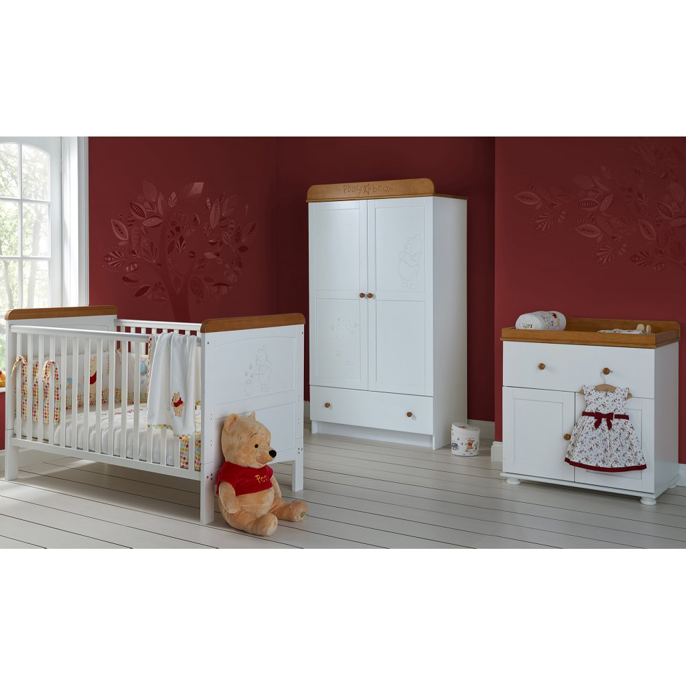 Obaby Winnie The Pooh Double 3 Piece Nursery Furniture Set