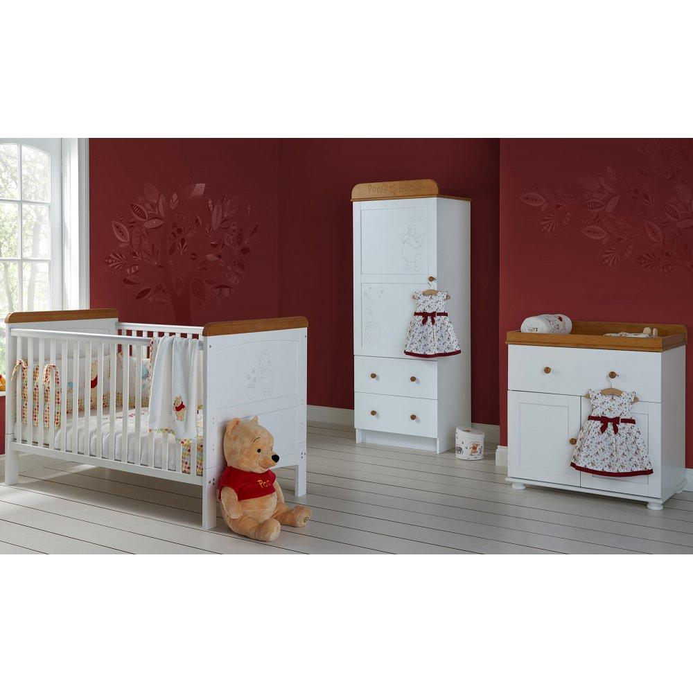 ... OBaby › OBaby Winnie The Pooh Single 3 Piece Nursery Furniture Set