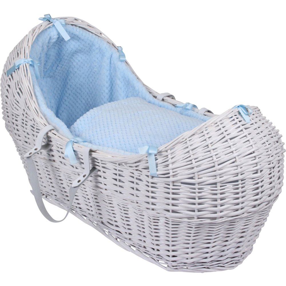 Grey Wicker Basket Uk : Clair de lune honeycomb noah pod grey wicker basket w h
