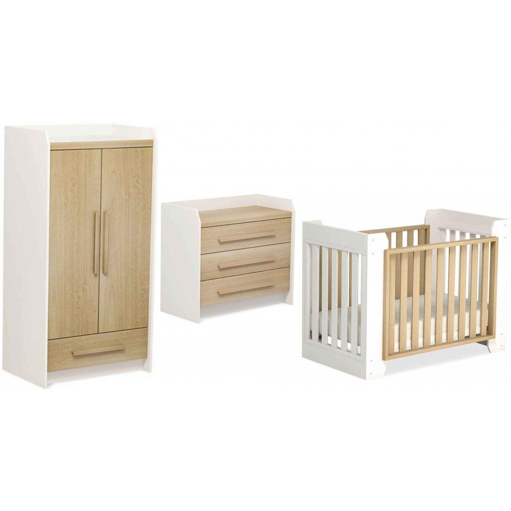 Urbane Omni Transformer 3 Piece Nursery Furniture Set By Boori