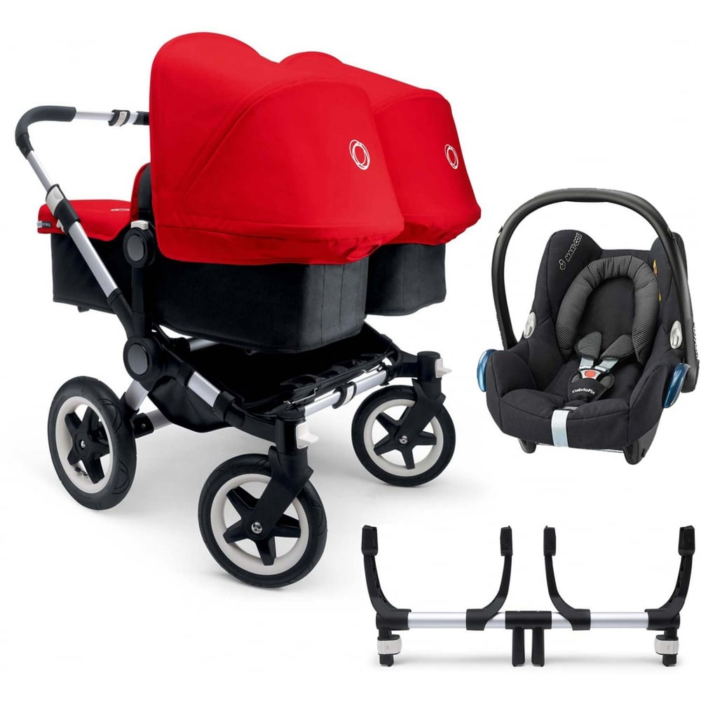 bugaboo donkey twin pushchair cabriofix car seat adapters. Black Bedroom Furniture Sets. Home Design Ideas