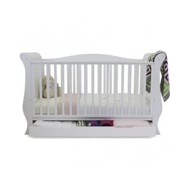 Babystyle Hollie 2 Sleigh Curved Back Cotbed Fresh White