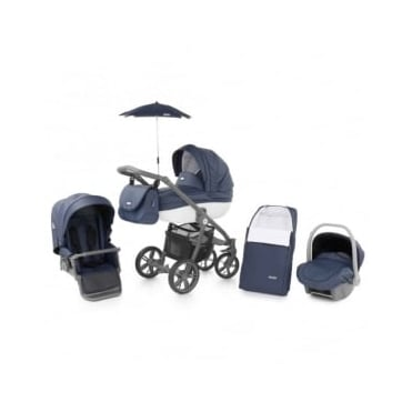 Babystyle Prestige 2 Pram Marlin - Active Grey Chassis